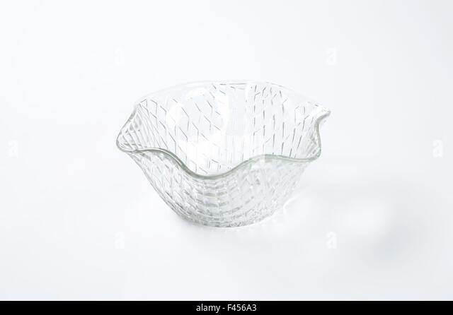 decorative glass bowl on white background stock image - Decorative Glass Bowls