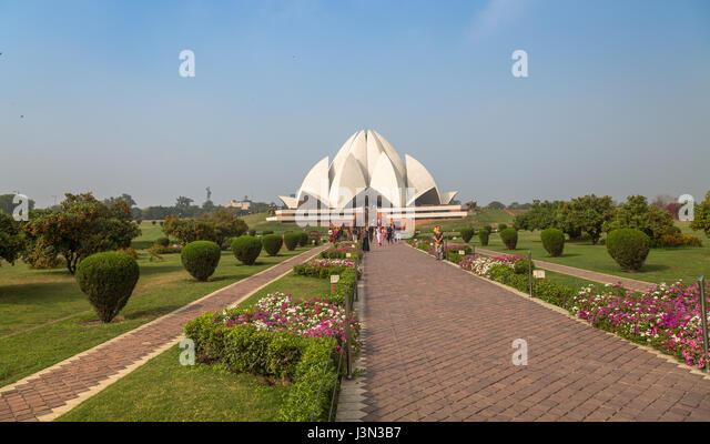 Lotus Temple Delhi Is The Bahai House Of Worship And A Notable City  Landmark For Its