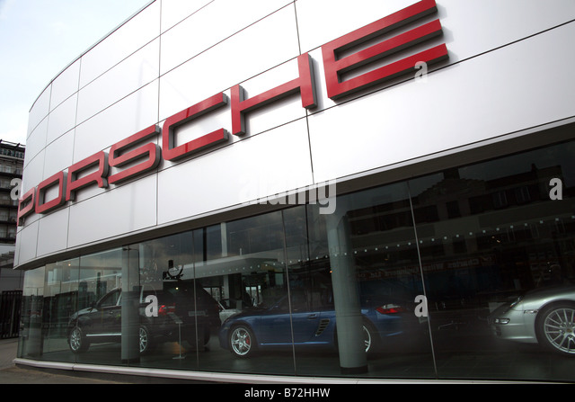 porsche showroom stock photos porsche showroom stock. Black Bedroom Furniture Sets. Home Design Ideas