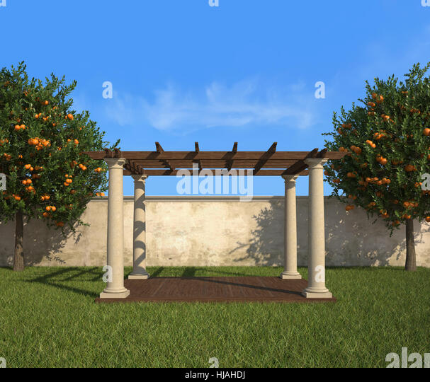 Stone Pillar Garden Wall Stock Photos Amp Stone Pillar
