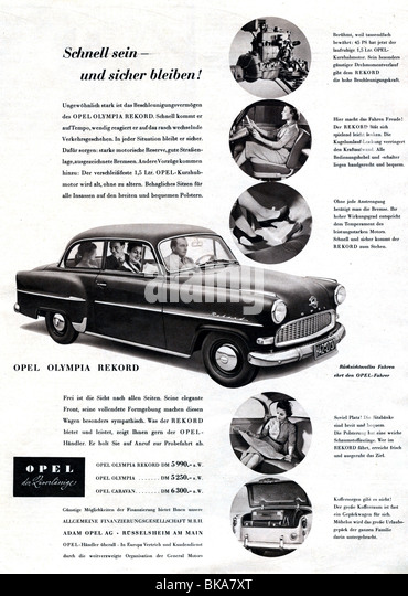 1950s car advertisement stock photos  u0026 1950s car