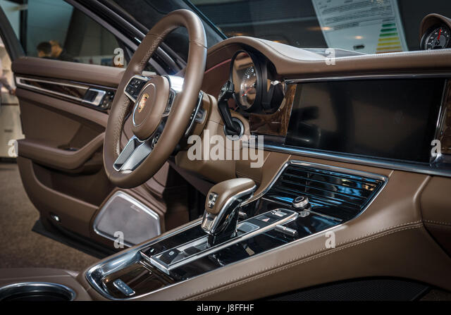 Interior Of The Full Size Luxury Car Porsche Panamera Turbo 2016 Europes Greatest