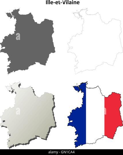 map rennes france stock photos map rennes france stock images alamy. Black Bedroom Furniture Sets. Home Design Ideas