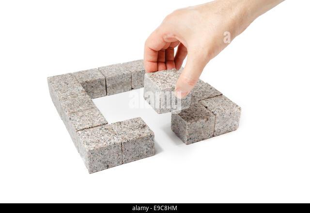 Seven Blocks Of Granite : Granite walls stock photos images