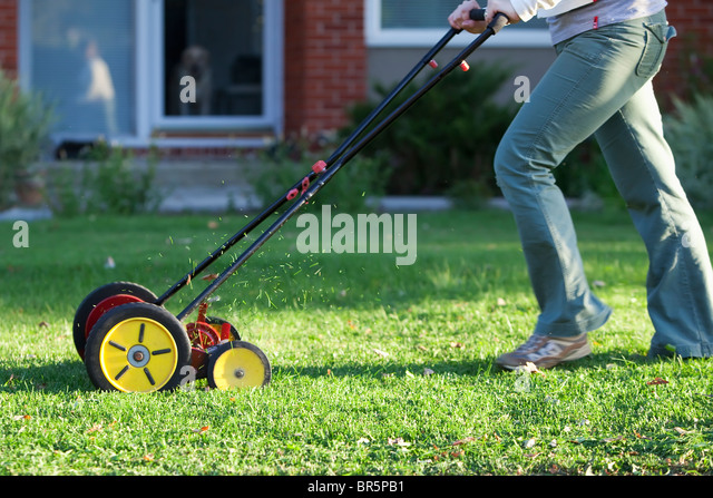 old fashioned lawn mower stock photos old fashioned lawn mower stock images alamy. Black Bedroom Furniture Sets. Home Design Ideas
