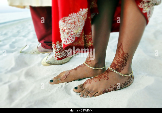 Indian mature feet