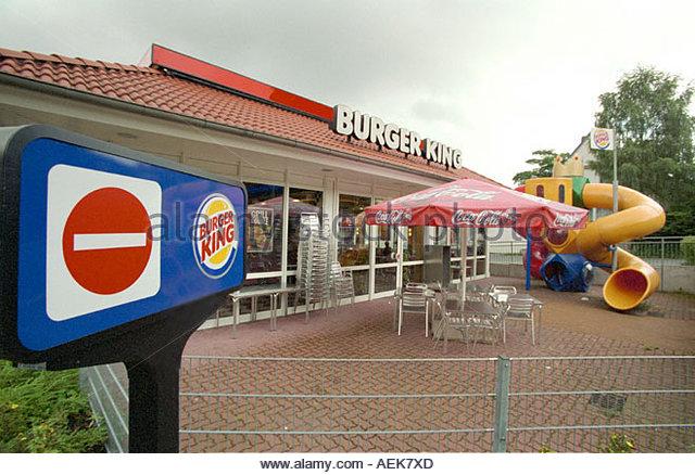 Exterior View Burger King Restaurant Stock Photos