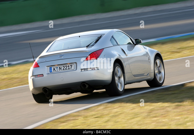 Nissan 350 Z, Model Year 2006 , Silver, Driving, Diagonal From The