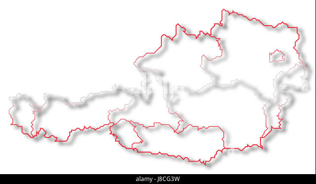 Austria Map Stock Photos Austria Map Stock Images Alamy - Austria on the world map