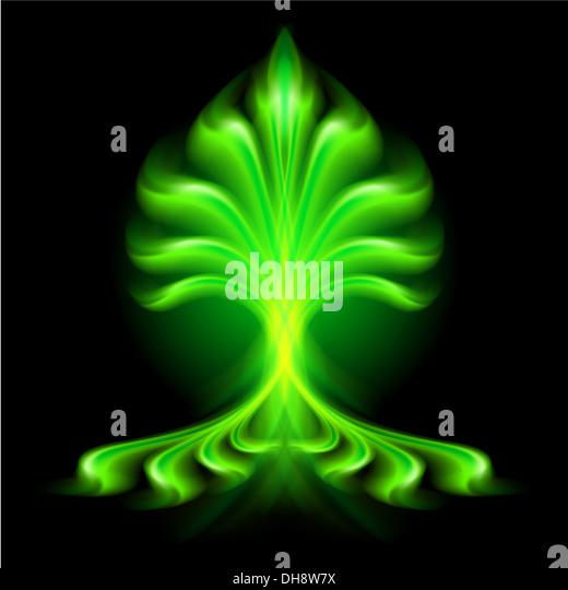 Abstract Blaze Green Fire Flame Stock Photos & Abstract ...