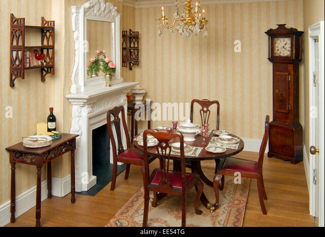 A French And Regency Period Dolls Houses, Showing The Miniature Interiors  And Furniture.   Part 51