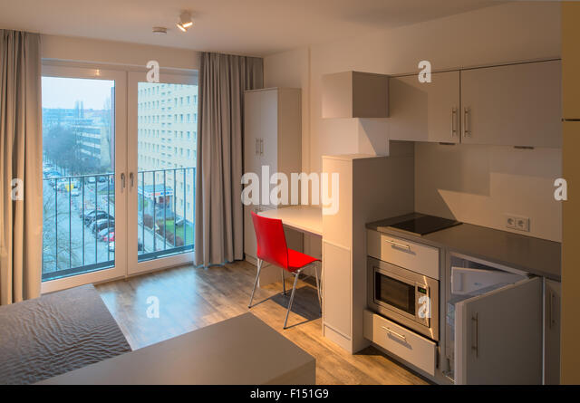 furnished student apartment stock photos furnished. Black Bedroom Furniture Sets. Home Design Ideas