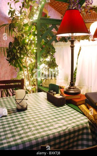 Fine dining restaurant interior stock photos fine dining for Auberge maison deschambault