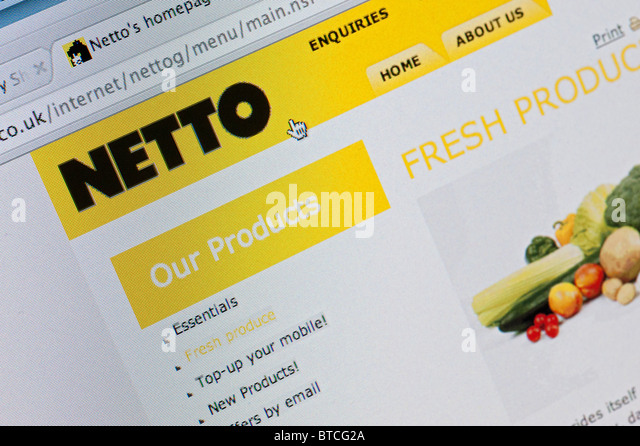 Detail Of Screenshot From Website Of Netto Home Shopping And Delivery Service Stock Image