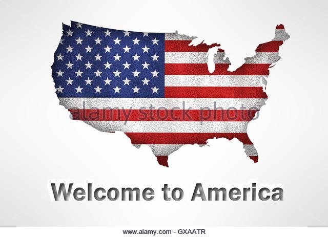 United America Flag Usa Map Stock Photos United America Flag Usa - Us map logo