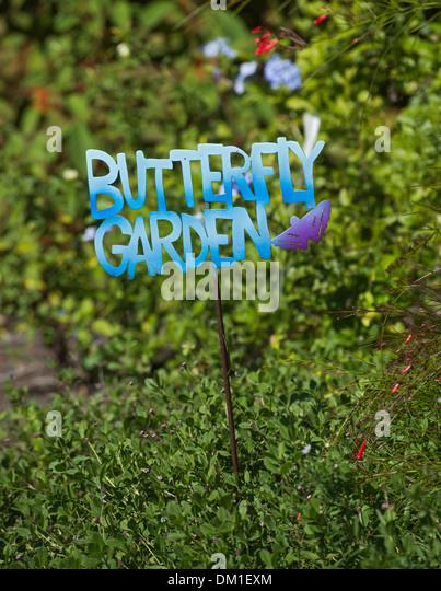Butterfly Garden Sign Stock Photos Butterfly Garden Sign