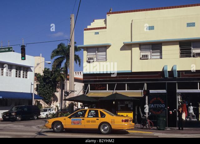 Washington Avenue Miami Beach Fl  Usa