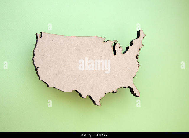 Continental Us Shape Stock Image