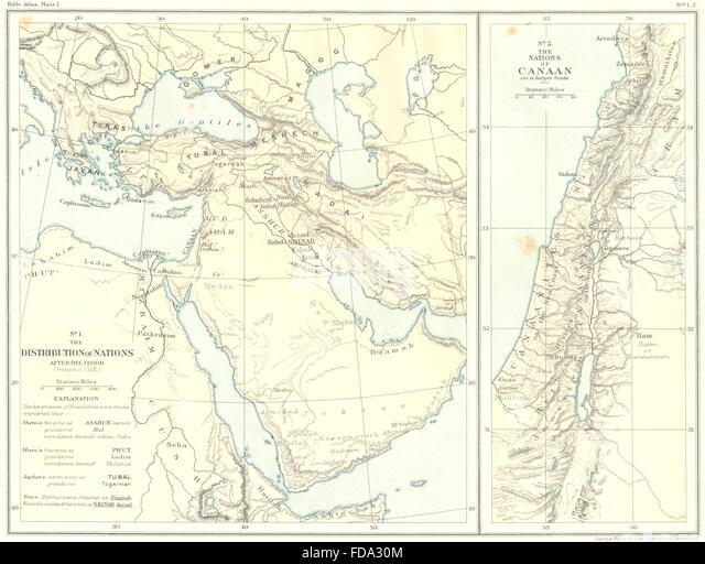 Map Bible Canaan Stock Photos Map Bible Canaan Stock Images Alamy