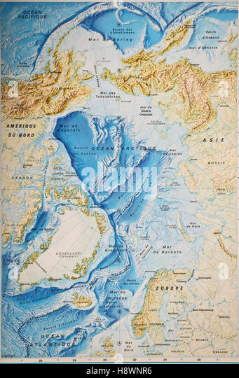Arctic Circle Map Stock Photos  Arctic Circle Map Stock Images
