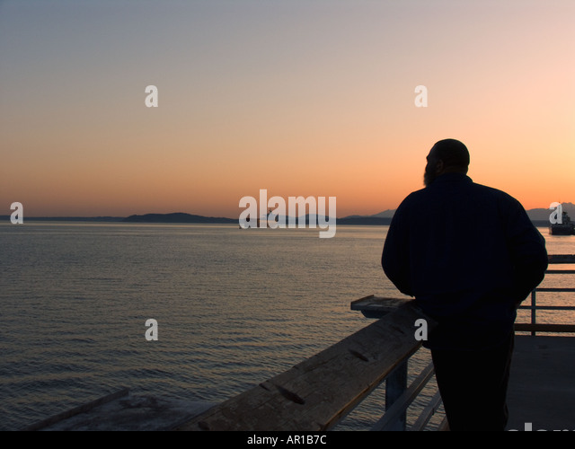 Reverie stock photos reverie stock images alamy for Seattle fishing pier