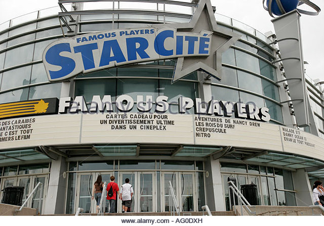 Montreal Canada Olympic Park Famous Players Starcite Theater Theatre Movie House Complex