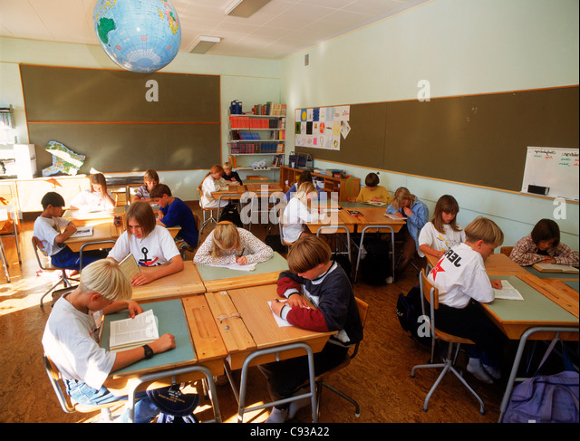 Elementary Classrooms Writing : Obedient classroom stock photos