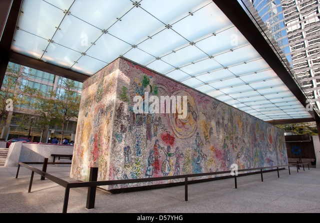 Mosaic of chagall stock photos mosaic of chagall stock for Chagall mural chicago