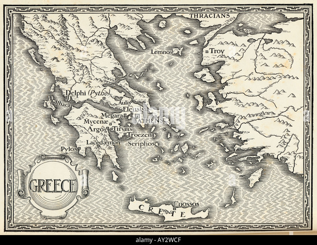 Ancient greece map stock photos ancient greece map stock images map europe greece ford stock image gumiabroncs Image collections