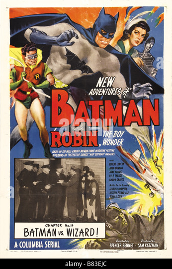 Batman and robin stock photos batman and robin stock images alamy for Poster et affiche
