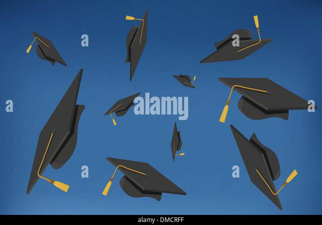 Black Graduation Hat Gold Tassel Stock Photos & Black ...