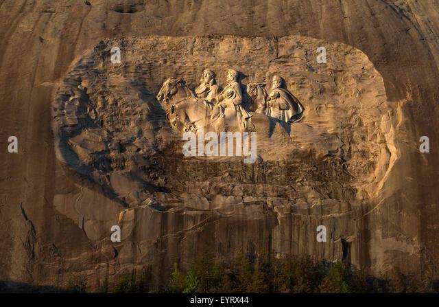 Stone mountain park atlanta stock photos