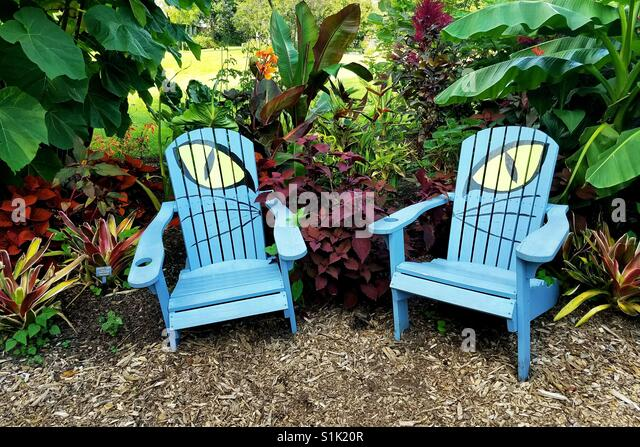 cat eye garden chairs in meadowlark gardens vienna virginia blue wooden garden