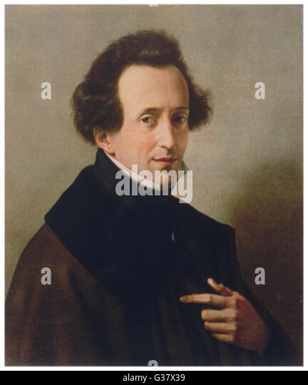 Felix Mendelssohn Composer Stock Photos and Images