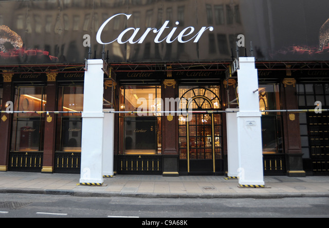 Exterior shot of the Cartier store on Bond Street London England 2011 -  Image Copyright Ben