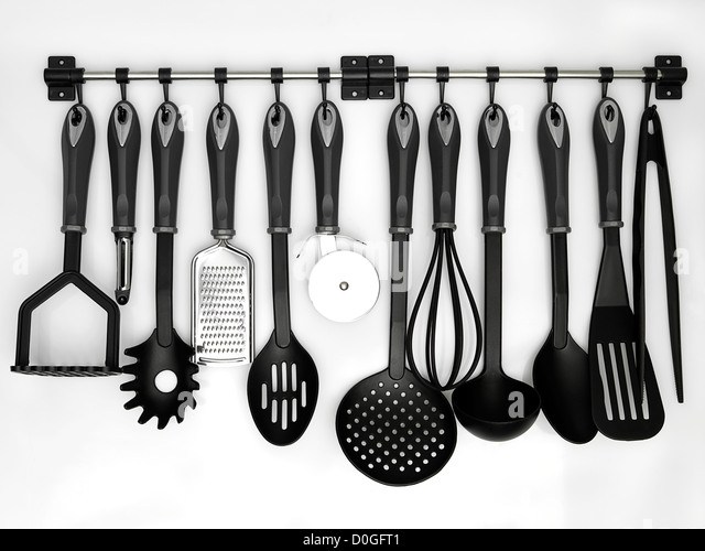 Kitchen Utensils Background kitchen utensils hanging stock photos & kitchen utensils hanging