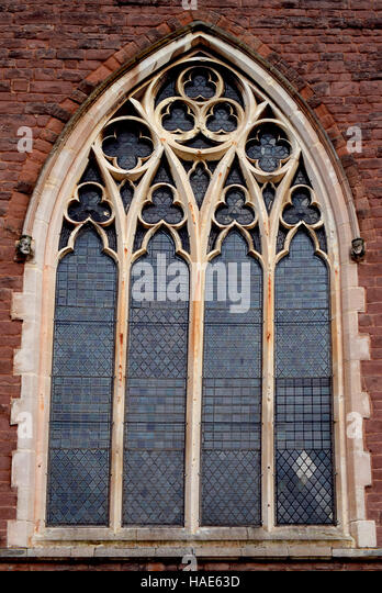 A Beautiful Design Of The Window Old Church From Birmingham