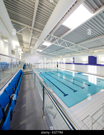Uk swimming pool interior stock photos uk swimming pool - John martinez school new haven swimming pool ...