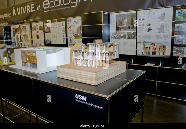 Paris France Construction Trade SHow Exhibit Ecological Green Buildings By Architecture Students