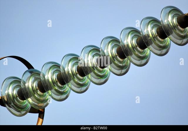 Insulator stock photos insulator stock images alamy for Power line insulators glass