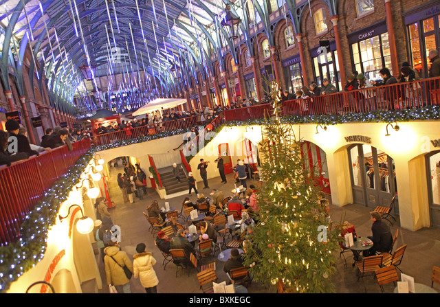 Covent Garden, Christmas   Stock Image