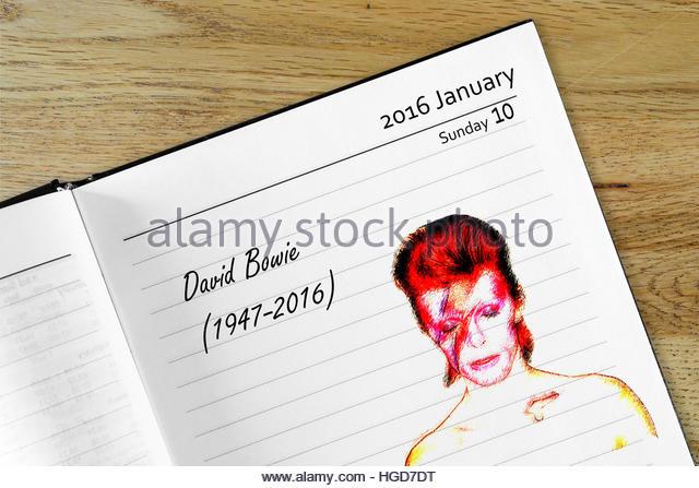 David bowie death date in Australia