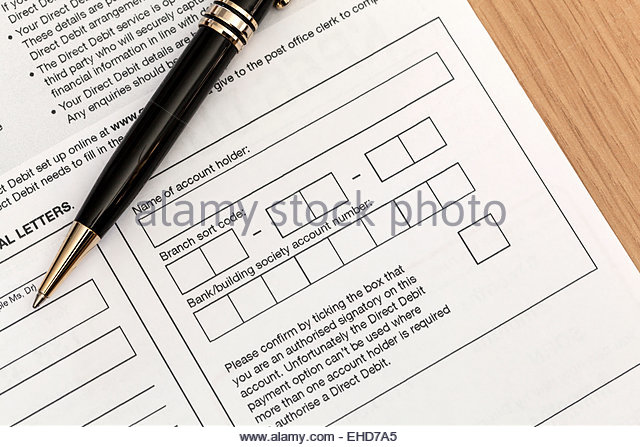 Direct Debit Stock Photos & Direct Debit Stock Images - Alamy