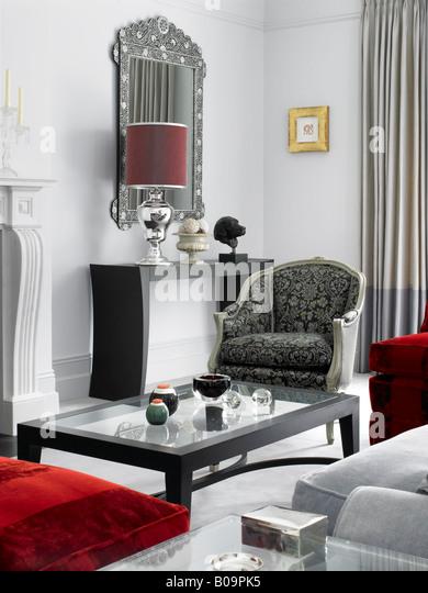 modern designer sitting room ann boyd - Stock Image