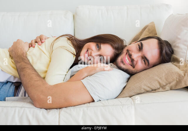Cute couple sex on couch