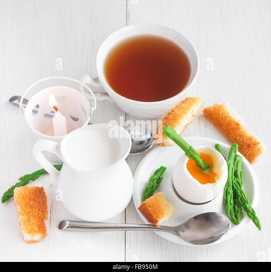 Eggs And Soldiers With Asparagus Recipe — Dishmaps