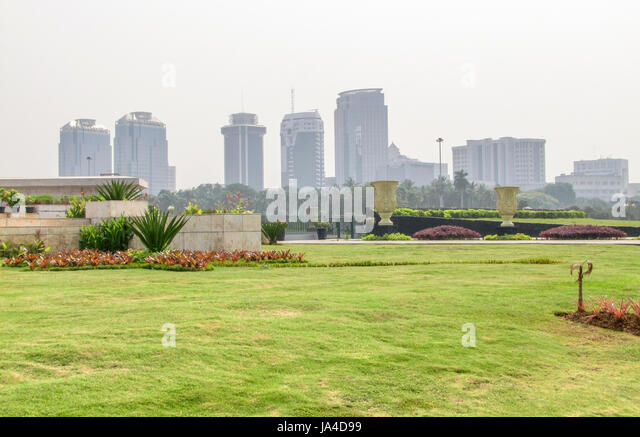 Skyline Of Jakarta, The Capital City Of Indonesia, Located On A Island  Named Java