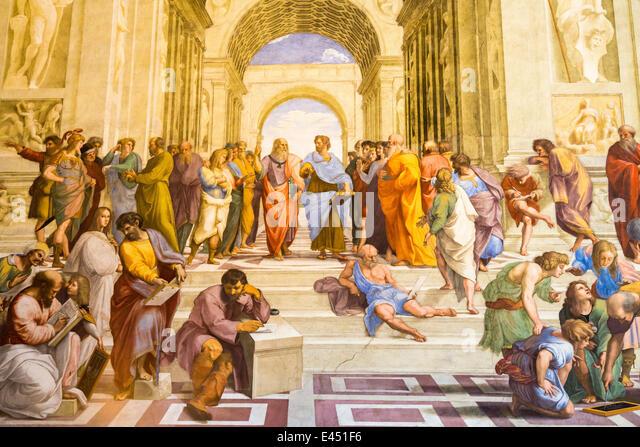 raphael the school of athens The school of athens, raphael (1483-1520) scuola di atene, raffaello sanzio the school of athens portrays plato, aristotle, and other ancient philosophers engaged in philosophic inquiry.