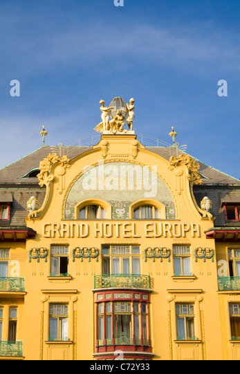 Grand hotel europe on wenceslas stock photos grand hotel for Hotel europa prague