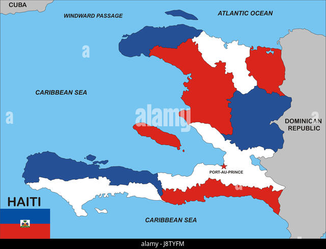 Haiti country map stock photos haiti country map stock images alamy haiti map atlas map of the world political flag country gumiabroncs Images